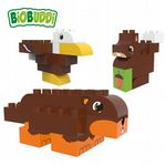 BiOBUDDi - Forest Beaver, Eagle & Squirrel - Eco Friendly Block Set - 27 Blocks